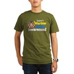 Support Warbler Neck Organic Men's T-Shirt (dark)