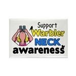 Support Warbler Neck Awareness Rectangle Magnet