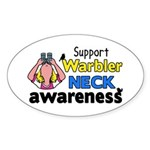 Support Warbler Neck Awareness Sticker (Oval)