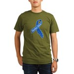 Warbler Neck Feather Organic Men's T-Shirt (dark)