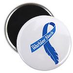 Warbler Neck Feather Ribbon Magnet