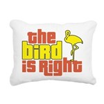 The Bird Is Right Rectangular Canvas Pillow