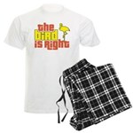 The Bird Is Right Men's Light Pajamas