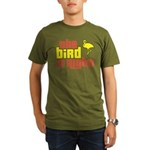 The Bird Is Right Organic Men's T-Shirt (dark)