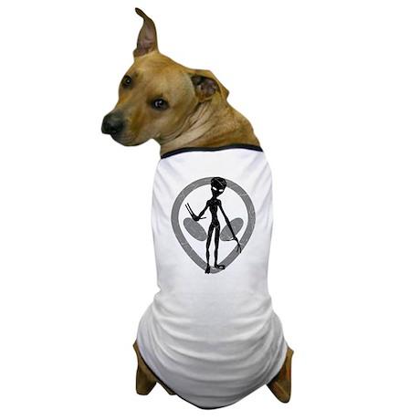 Distressed Alien Dog T-Shirt