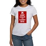 Keep Calm Carry Bins Women's T-Shirt