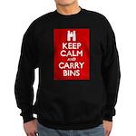 Keep Calm Carry Bins Sweatshirt (dark)
