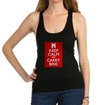 Keep Calm Carry Bins Racerback Tank Top