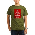 Keep Calm Carry Bins Organic Men's T-Shirt (dark)