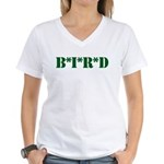 B * I * R * D Women's V-Neck T-Shirt