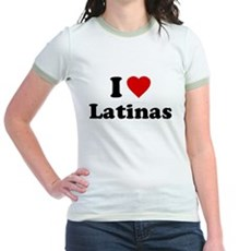I Love [Heart] Latinas Jr Ringer T-Shirt