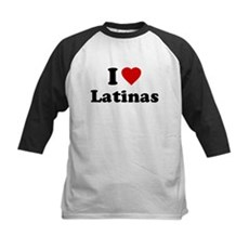 I Love [Heart] Latinas Kids Baseball Jersey