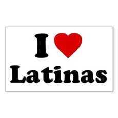 I Love [Heart] Latinas Rectangle Sticker