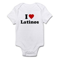 I Love [Heart] Latinos Infant Bodysuit