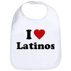 I Love [Heart] Latinos Bib