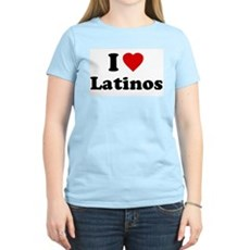 I Love [Heart] Latinos Womens Light T-Shirt