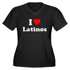 I Love [Heart] Latinos Womens Plus Size V-Neck Da