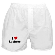 I Love [Heart] Latinos Boxer Shorts