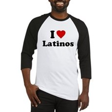 I Love [Heart] Latinos Baseball Jersey