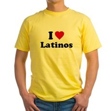 I Love [Heart] Latinos Yellow T-Shirt