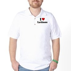 I Love [Heart] Latinos Golf Shirt