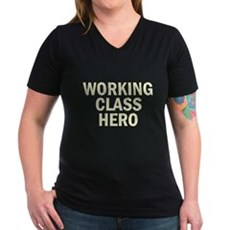 Working Class Hero Womens V-Neck T-Shirt