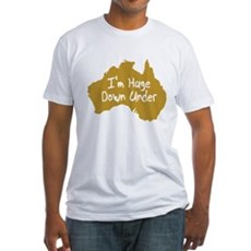 I'm Huge Down Under Fitted T-Shirt