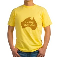 I'm Huge Down Under Yellow T-Shirt