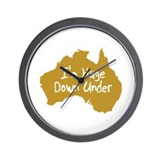I'm Huge Down Under Wall Clock