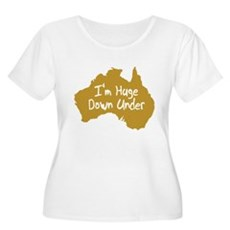 I'm Huge Down Under Womens Plus Size Scoop Neck T