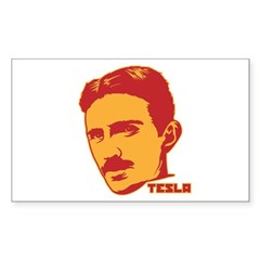 Nikola Tesla Rectangle Sticker