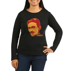 Nikola Tesla Women's Long Sleeve Dark T-Shirt