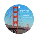 Personalized Golden Gate Bridge Ornament (round)