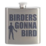 Birders Gonna Bird Flask