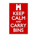 Keep Calm Carry Bins 35x21 Wall Decal