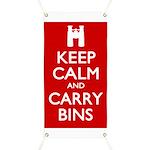 Keep Calm Carry Bins Banner