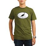 Crane Oval Organic Men's T-Shirt (dark)
