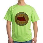 Nebraska Birder Green T-Shirt
