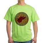 West Virginia Birder Green T-Shirt