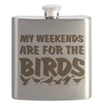 Weekends for the Birds Flask
