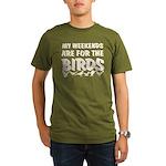 Weekends for the Birds Organic Men's T-Shirt (dark