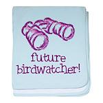 Future Birdwatcher baby blanket