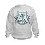Gothic Birder Shield Kids Sweatshirt