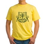 Gothic Birder Shield Yellow T-Shirt