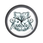 Gothic Birder Shield Wall Clock