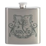 Gothic Birder Shield Flask