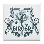 Gothic Birder Shield Tile Coaster