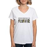 Extinction is Forever Women's V-Neck T-Shirt