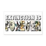Extinction is Forever Rectangle Car Magnet