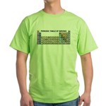 Periodic Table of Birding Green T-Shirt